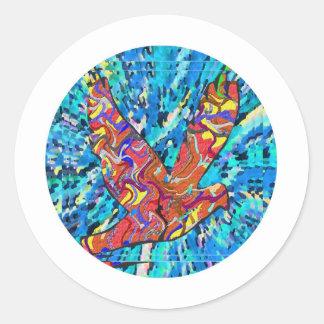 Angel Bird  - Round Classic Round Sticker