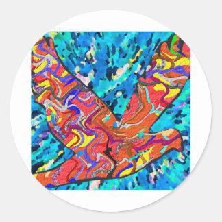 Angel Bird Classic Round Sticker