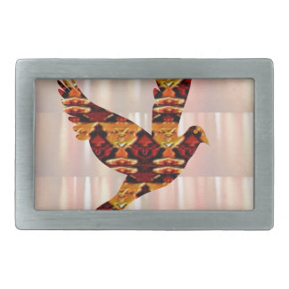 ANGEL bird TEMPLATE Colored easy to ADD TEXT and I Rectangular Belt Buckles
