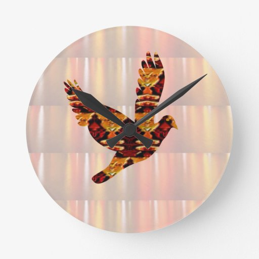 ANGEL bird TEMPLATE Colored easy to ADD TEXT and I Wall Clocks
