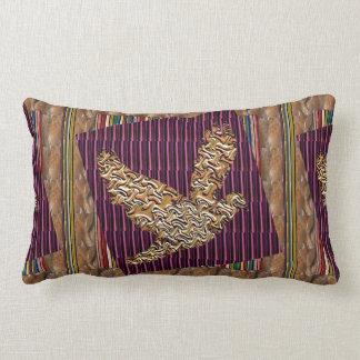 Angel Bird using RareEarth Stones Textures Pattern Throw Pillows