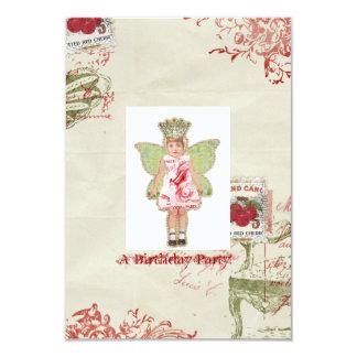 Angel Birthday invitation
