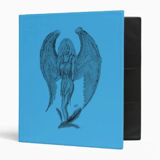Angel Black and blue design Binder
