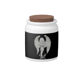 Angel black and white design candy jar