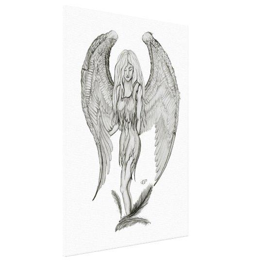 Angel - Black and white Design Canvas Print
