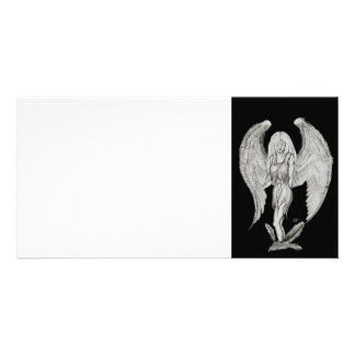 Angel - Black and white Design Card