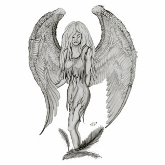 Angel black and white Design Cutout