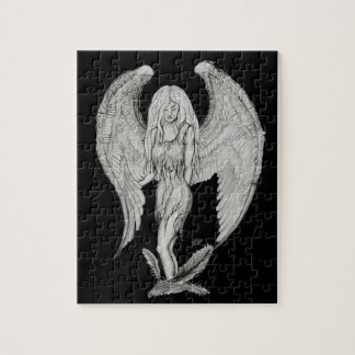 Angel black and white design jigsaw puzzle