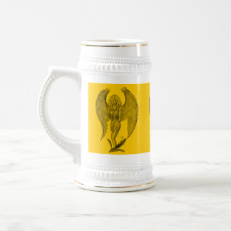 Angel - black and yellow design beer stein