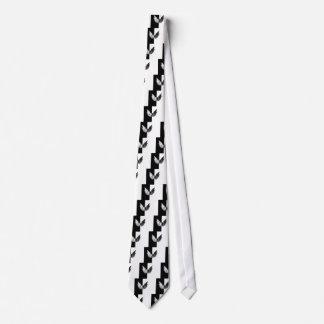 Ángel blanco negro corbata