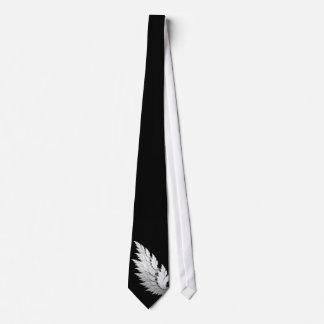 Ángel blanco negro corbatas personalizadas