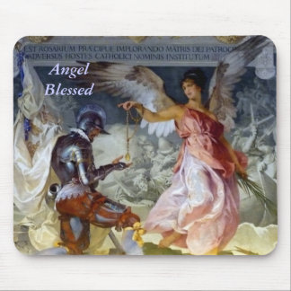 Angel Blessed Mouse Pad