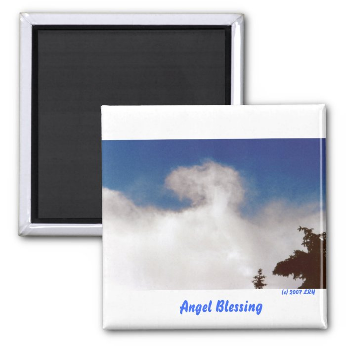 Angel Blessing 2 Inch Square Magnet