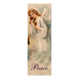 Angel Blessing Love Note or bookmark - Purple Double-Sided Mini Business Cards (Pack Of 20)