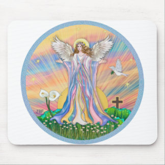 Angel Blessing Mouse Pad
