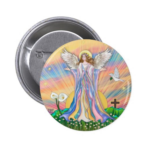 Angel Blessing Pinback Buttons
