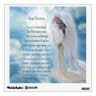 Angel Blessings Poem Wall Sticker