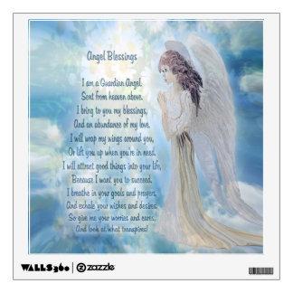 Angel Blessings Poem Wall Sticker