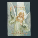 "Angel Blessings Towel<br><div class=""desc"">Wishing you angel blessings dish towel.</div>"