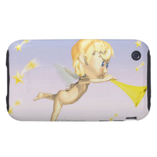 Angel blowing horn, CG, 3D, Illustration, Side Tough iPhone 3 Cover
