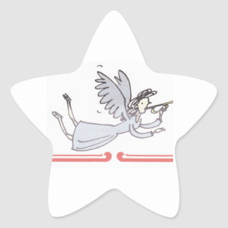 Angel Blowing Horn Products Star Sticker