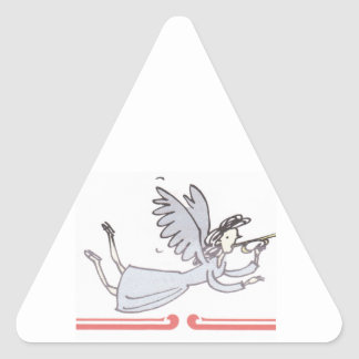 Angel Blowing Horn Products Triangle Sticker