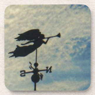 Angel BLOWING HORN WEATHER VANE Coaster