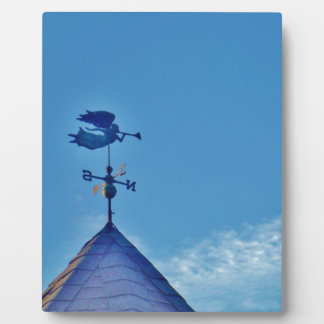 Angel BLOWING HORN WEATHER VANE Plaque