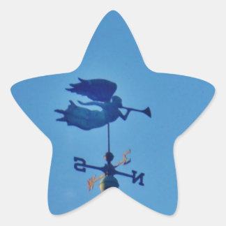 Angel BLOWING HORN WEATHER VANE Sticker