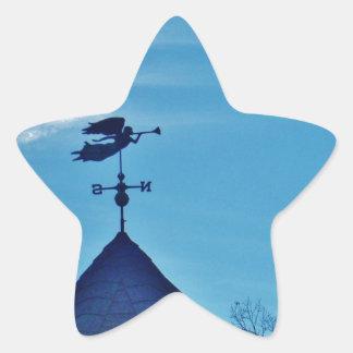 Angel BLOWING HORN WEATHER VANE Star Sticker