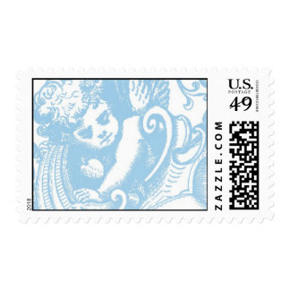 angel_blue by Ceci New York Postage Stamps