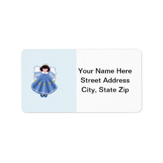 Angel blue address label