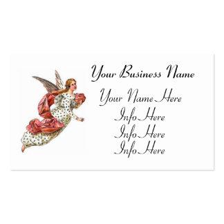 Ángel bonito con la cinta rosada tarjetas de visita