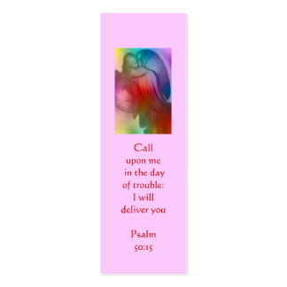 Angel Book Marker Double-Sided Mini Business Cards (Pack Of 20)