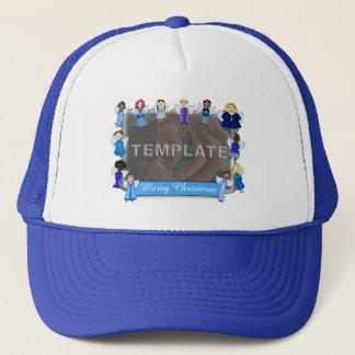 Angel Border Trucker Hat