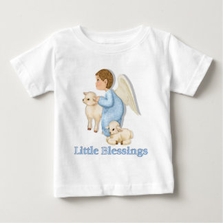 Angel Boy with Lambs Baby T-Shirt