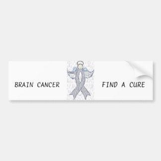 Angel Brain Cancer Ribbon Bumper Sticker