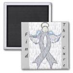 Angel Brain Cancer Ribbon Fridge Magnet