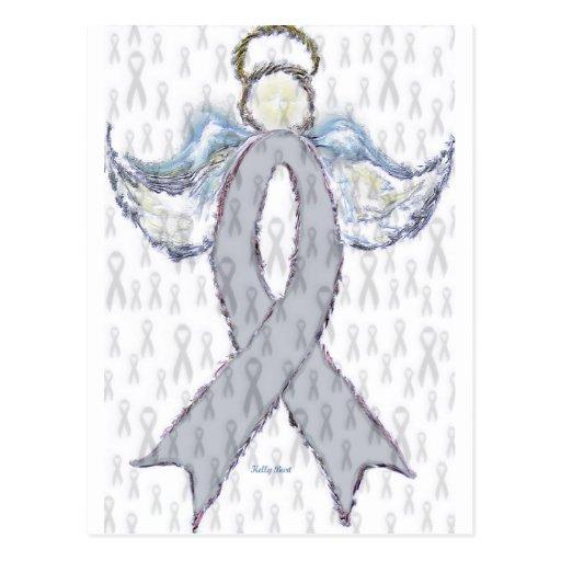 Angel Brain Cancer Ribbon Postcard