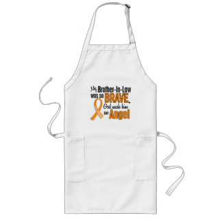Angel Brother-In-Law Leukemia Long Apron