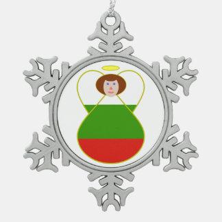 Ángel búlgaro de la bandera adorno