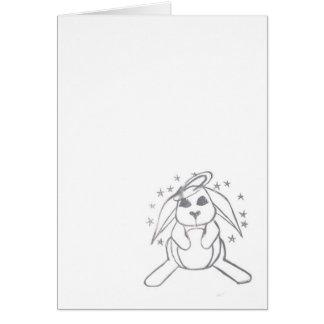 Angel bunny card