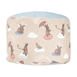 Angel Bunny Pouf for kids