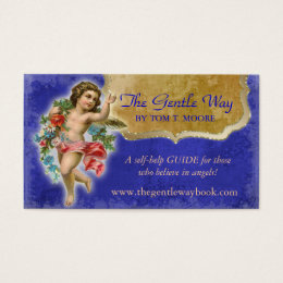 Angel Business Card Christian Spiritual Blue