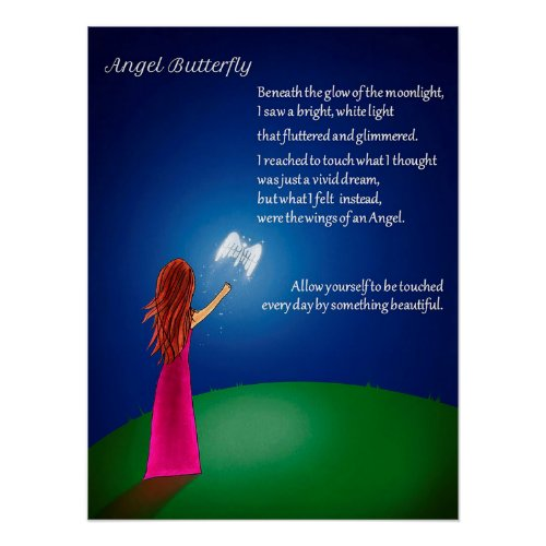Angel Butterfly Poster