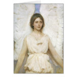 Angel by Abbott Thayer Vintage Victorian Christmas Greeting Card