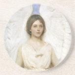 Angel by Abbott Thayer, Vintage Victorian Fine Art Drink Coaster