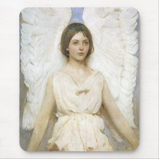 Angel by Abbott Thayer, Vintage Victorian Fine Art Mouse Pads