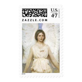 Angel by Abbott Thayer, Vintage Victorian Fine Art Stamp