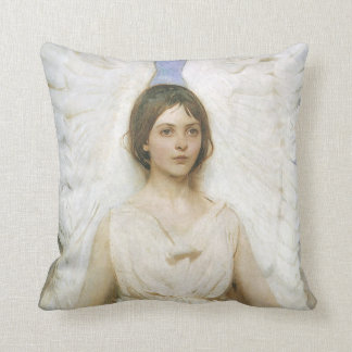 Angel by Abbott Thayer, Vintage Victorian Fine Art Throw Pillow
